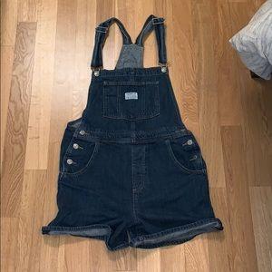 Levi's Denim Overall Shorts